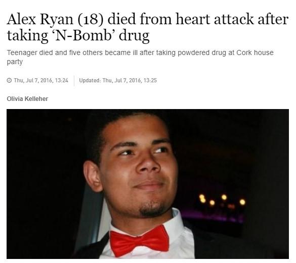 18-летний Алекс Райан умер после приема NBOMe