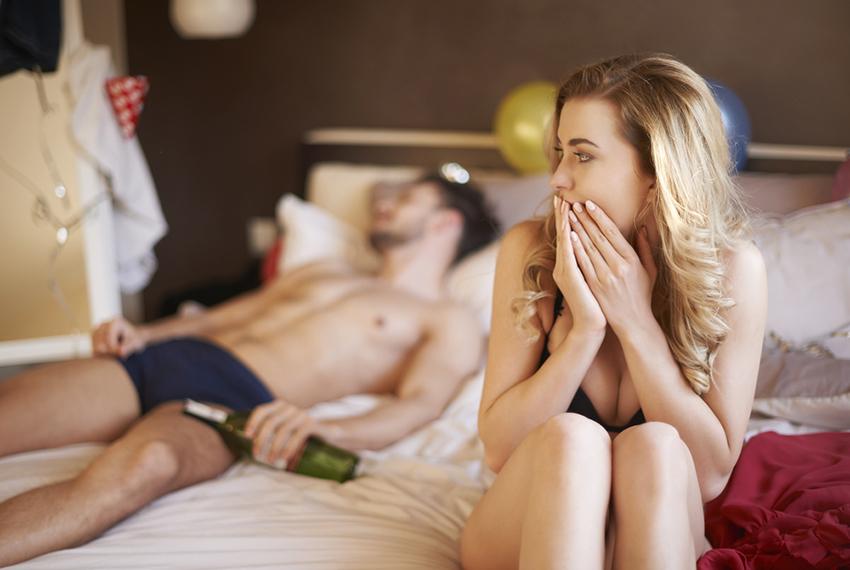 Как выглядит интимная жизнь пьющего человека?